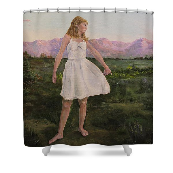 Tuesday's Child Shower Curtain