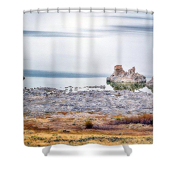Tufa Formations At Mono Lake Shower Curtain