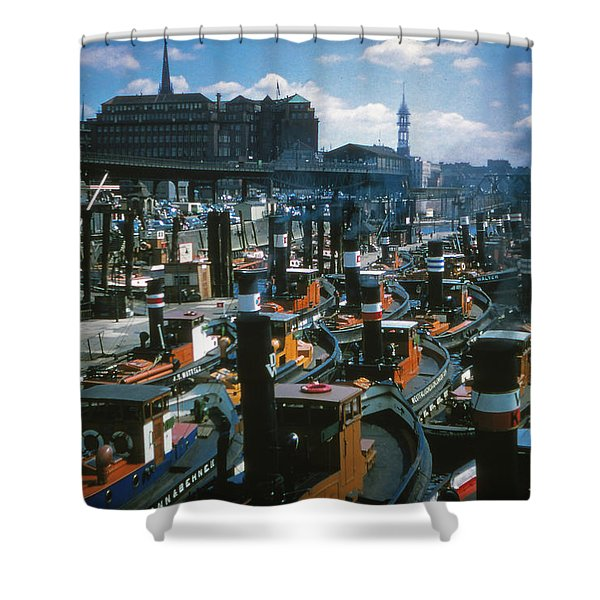 Tugs - Hamburg Shower Curtain