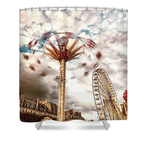 Tuilerie Garden Paris Swings Shower Curtain