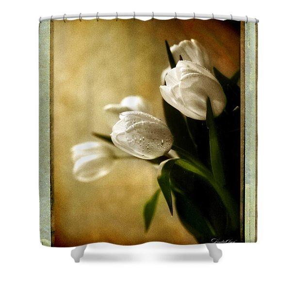 Tulip Side Sepia Shower Curtain