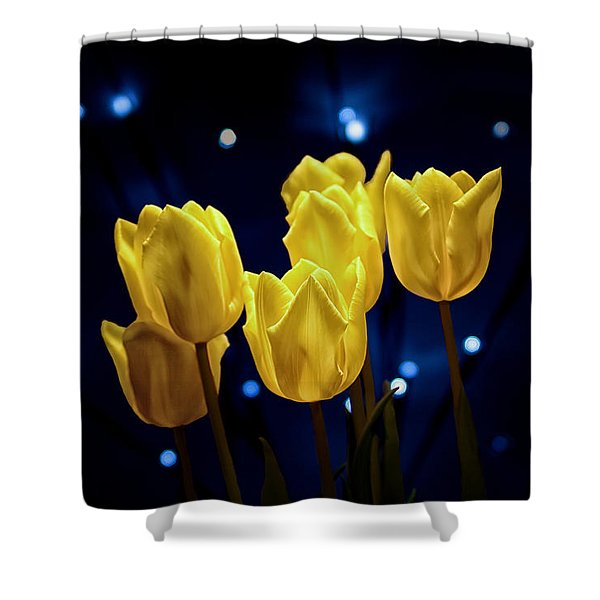 Tulip Twinkle Shower Curtain