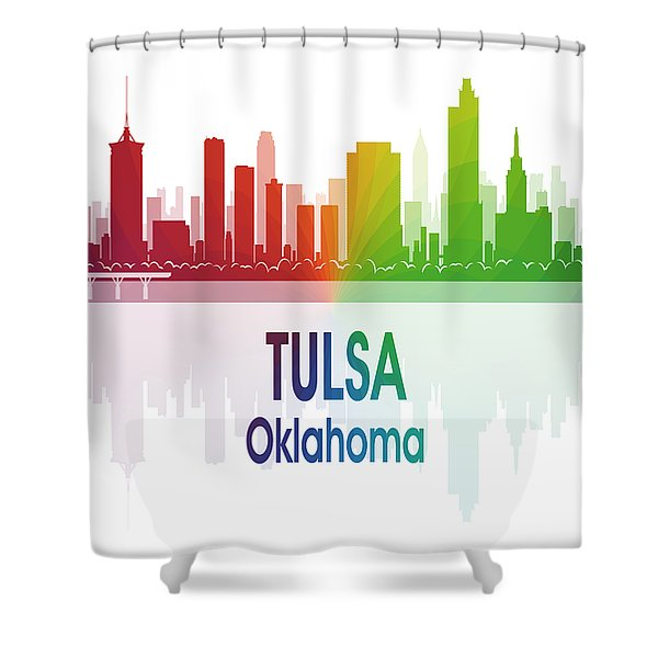 Tulsa Ok 1 Vertical Shower Curtain