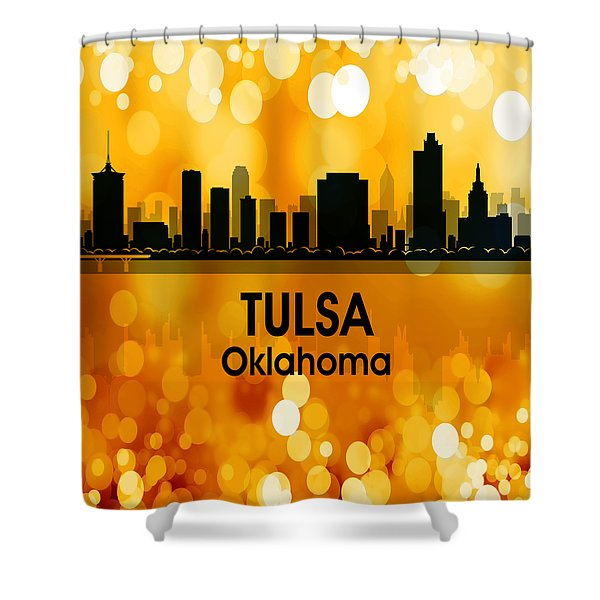 Tulsa Ok 3 Squared Shower Curtain