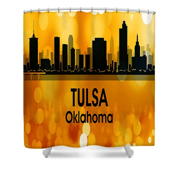 Tulsa Ok 3 Vertical Shower Curtain