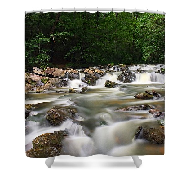 Tumbling Waters Shower Curtain