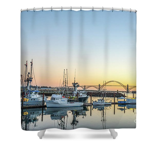 Tuna Boats Resting For The Night Shower Curtain