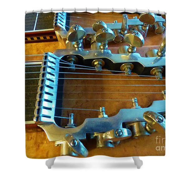 Tuning Pegs On Sho-bud Pedal Steel Guitar Shower Curtain