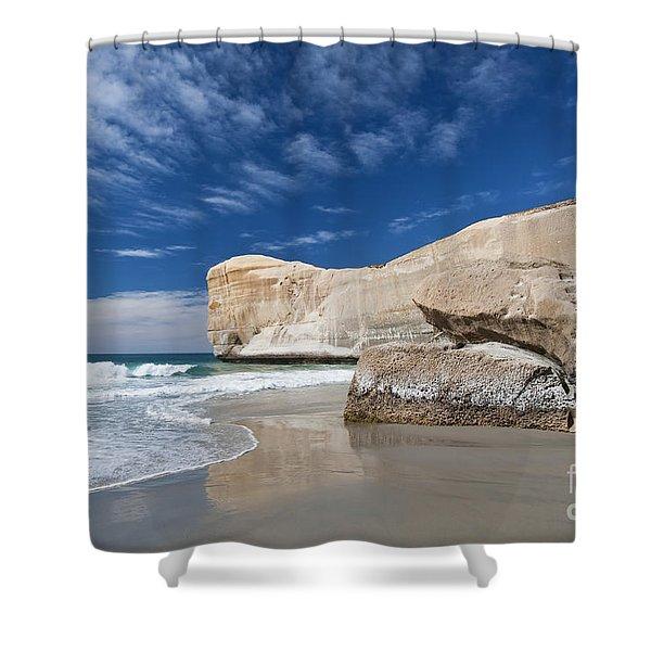 Tunnel Beach 1 Shower Curtain
