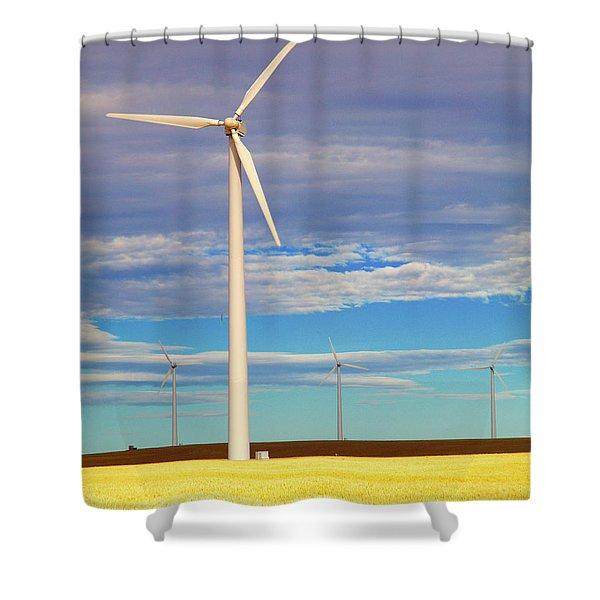 Turbine Formation Shower Curtain