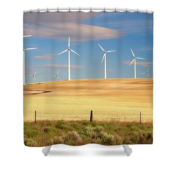 Turbine Line Shower Curtain