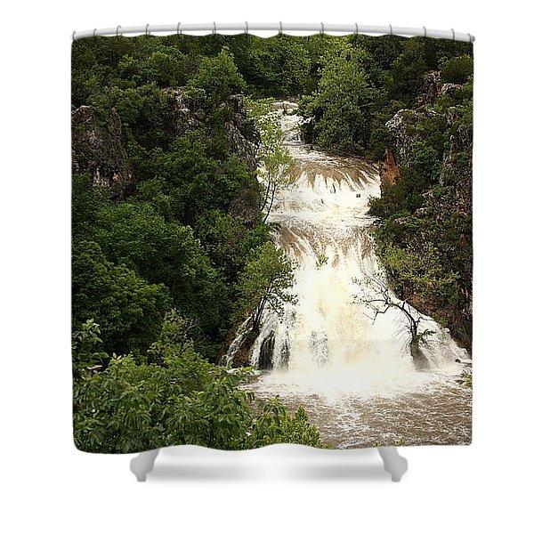 Turner Falls Waterfall Shower Curtain