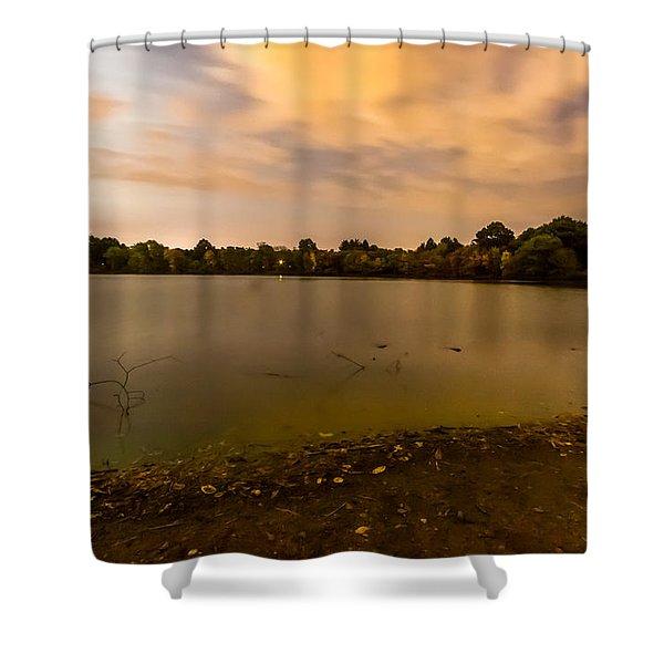 Turners Pond After Dark Shower Curtain