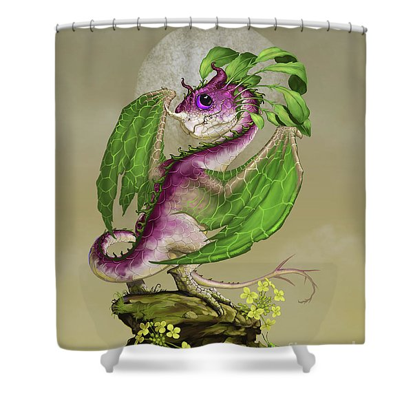 Turnip Dragon Shower Curtain
