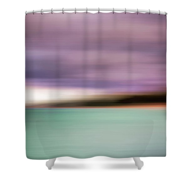 Turquoise Waters Blurred Abstract Shower Curtain