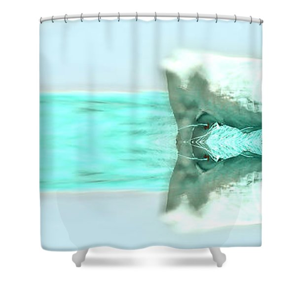 Turquoise And Steer Shower Curtain
