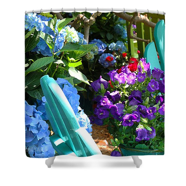 Turquoise Chairs Shower Curtain