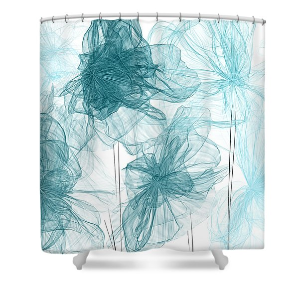 Turquoise In Sync Shower Curtain