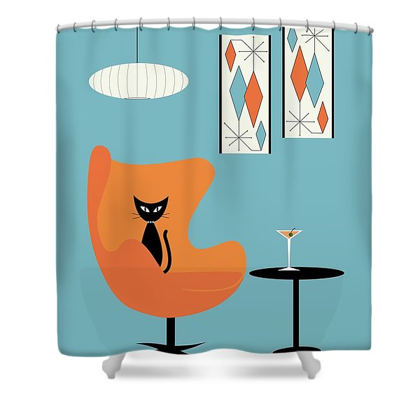 Turquoise Room Shower Curtain