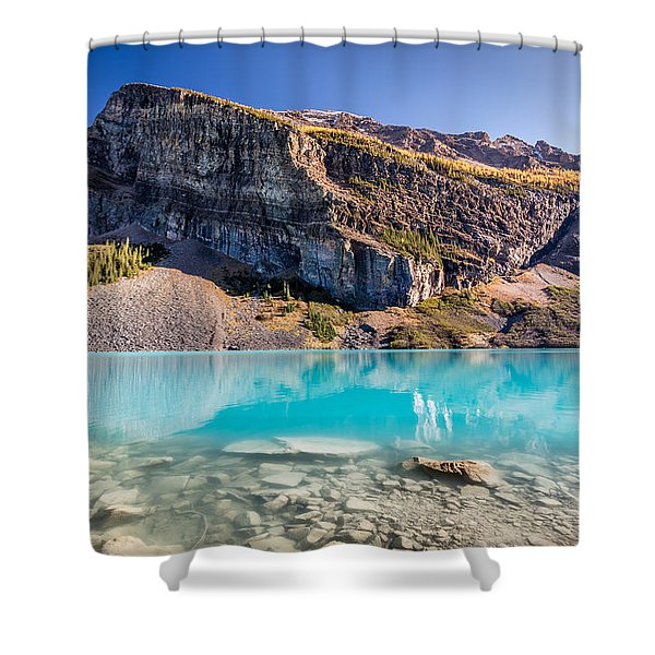 Turquoise Water Of The Scenic Lake Louise Shower Curtain