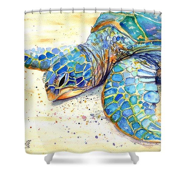 Turtle At Poipu Beach 4 Shower Curtain