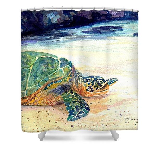 Turtle At Poipu Beach 5 Shower Curtain