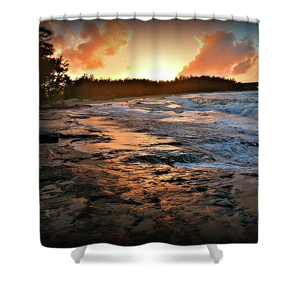 Turtle Bay Sunset 1 Shower Curtain