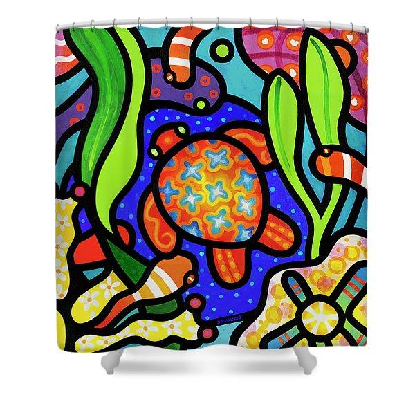 Turtle Reef Shower Curtain