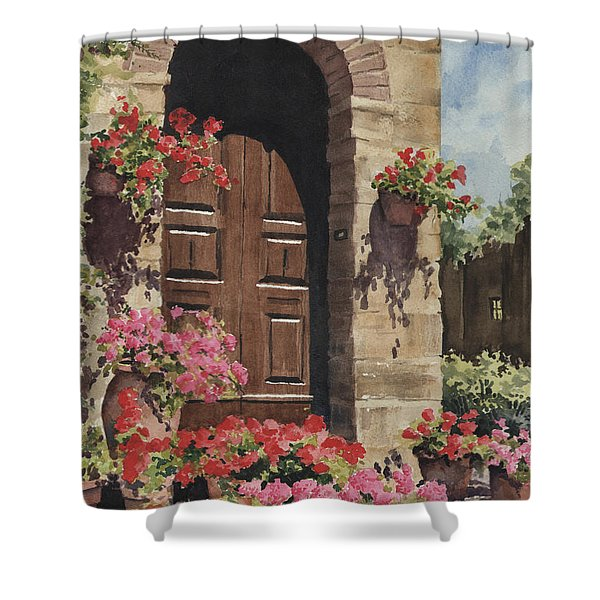 Tuscan Door Shower Curtain