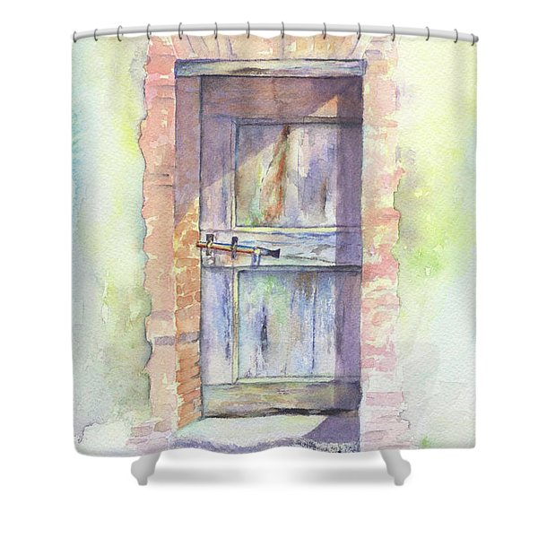 Tuscan Doorway Shower Curtain