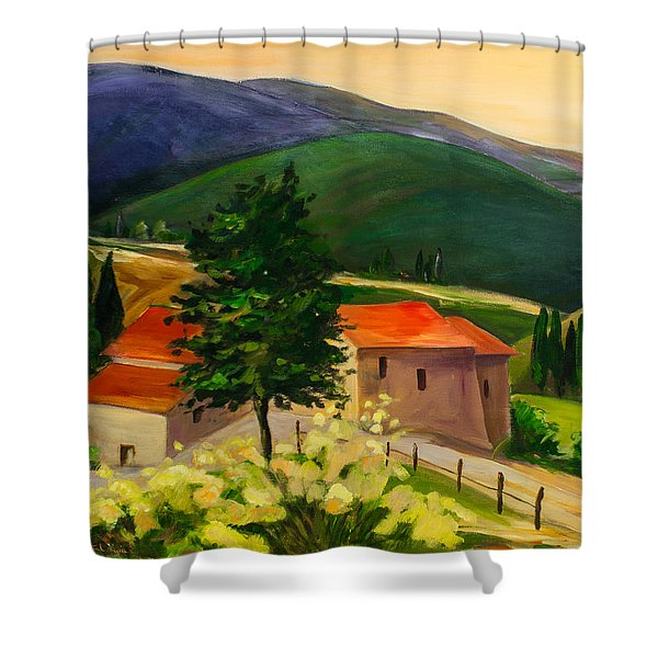 Tuscan Hills Shower Curtain