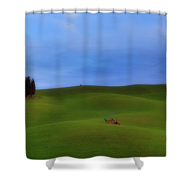 Tuscan Landscaping Shower Curtain