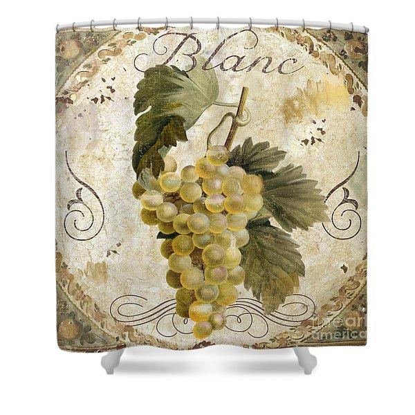 Tuscan Table Blanc Wine Shower Curtain
