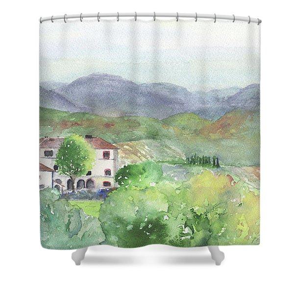 Tuscan Vineyards Shower Curtain