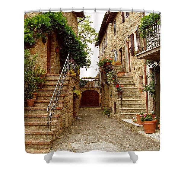 Tuscany Stairways Shower Curtain