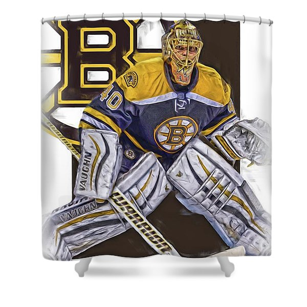Tuukka Rask Boston Bruins Oil Art 1 Shower Curtain