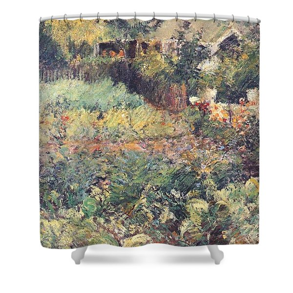 twachtman cabbage patch probably-1897-8 John Henry Twachtmann Shower Curtain