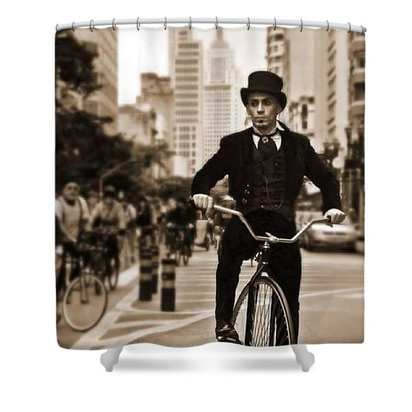 #tweedridesp 2015 #saopaulobrazil Shower Curtain