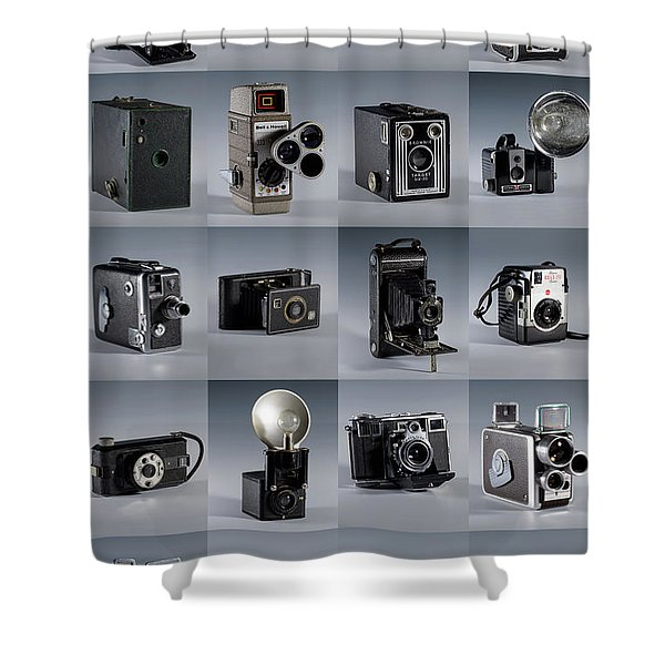 Twenty Old Cameras - Color Shower Curtain