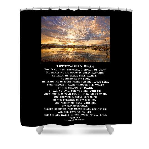 Twenty-third Psalm Prayer Shower Curtain