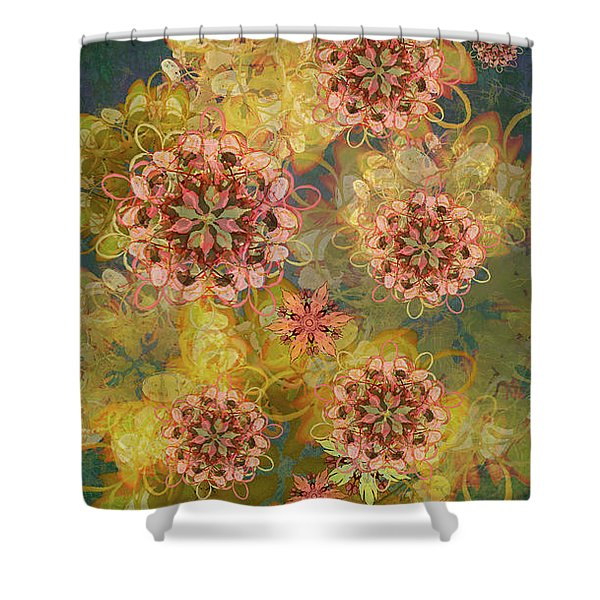 Twilight Blossom Bouquet Shower Curtain