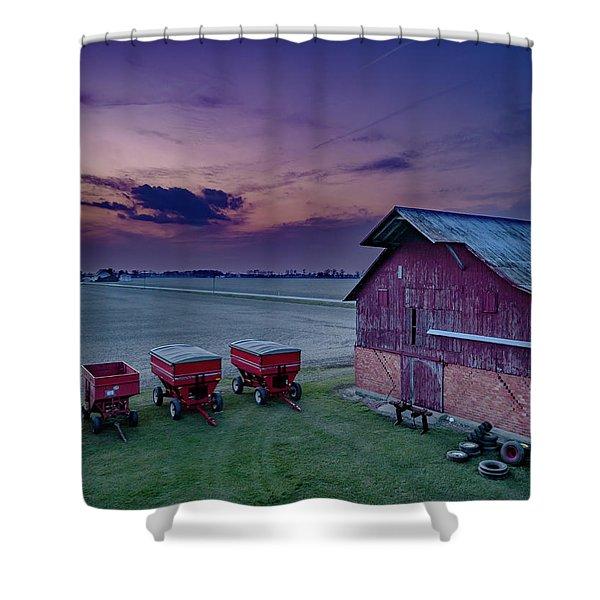 Twilight On The Farm Shower Curtain