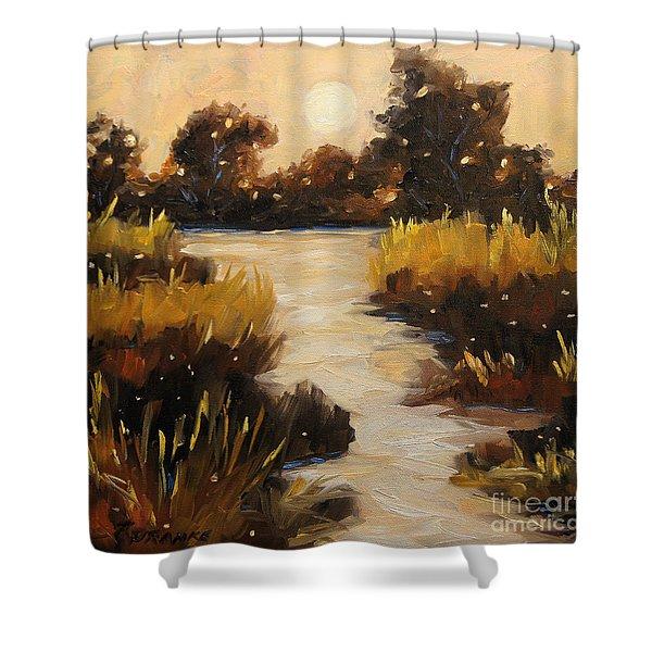 Twilight On The Marsh By Prankearts Shower Curtain