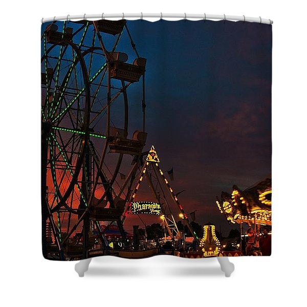 Twilight On The Midway  Shower Curtain