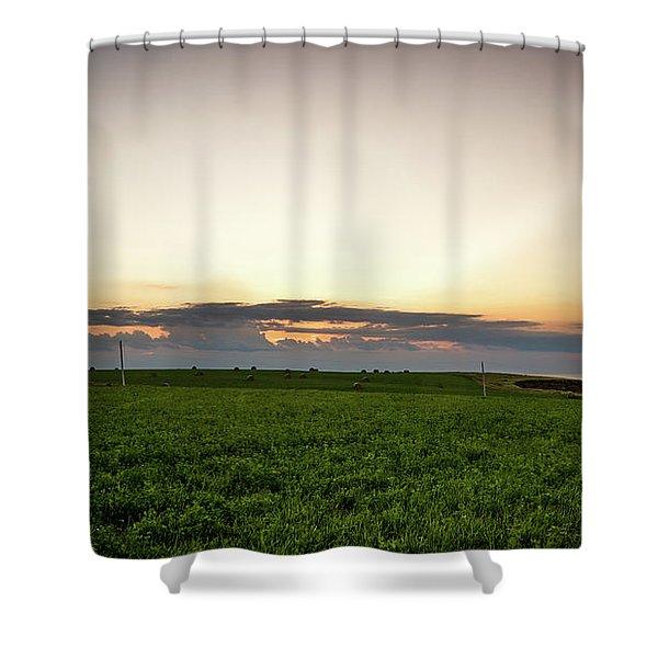 Twilight Prince Edward Island Fields Shower Curtain