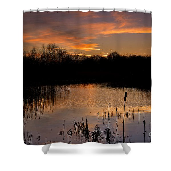 Twilight Reflections Shower Curtain