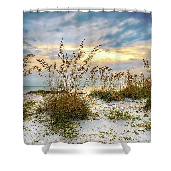 Twilight Sea Oats Shower Curtain