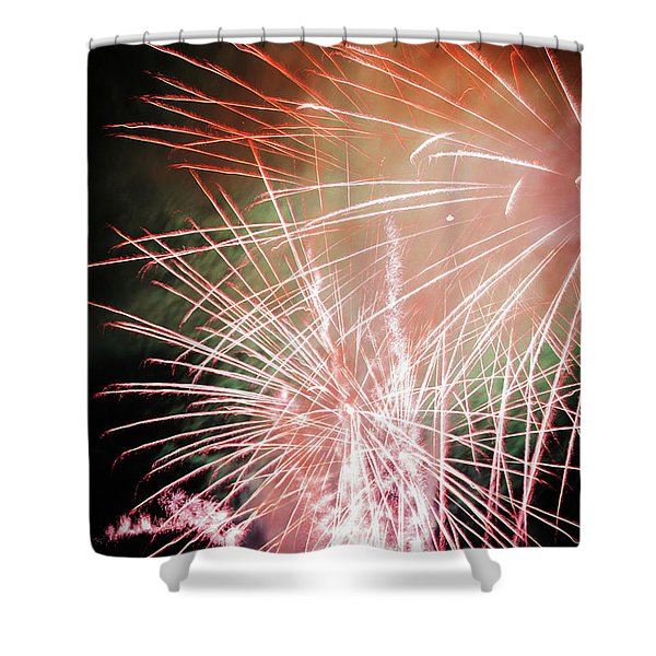 Twin Bursts Shower Curtain