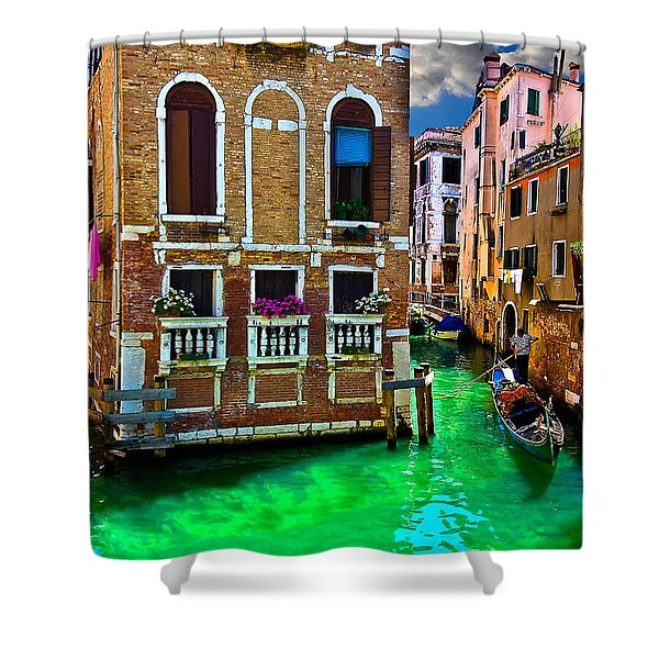 Twin Canals Shower Curtain
