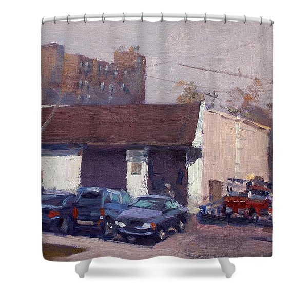 Twin City Transmission Shower Curtain